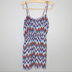 West loop sundress chevron geometric xl dress
